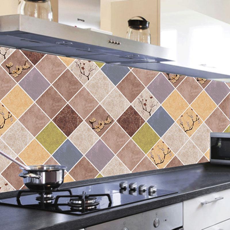 厨房防油贴纸自粘耐高温灶台用防火防水防油烟机墙贴台面橱柜壁纸