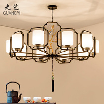 New Chinese style chandeliers Chinese style living room lamps bedroom study Villa Hall chandeliers creative iron hotel lighting