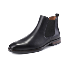 European and American low-heeled men's shoes, mid-upper leather, British high-heeled shoes, men's business suits, boots, boots, Chelsea boots