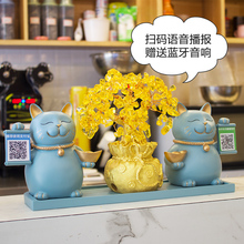 Creative Opening Gift Cat Arrangements for New Shop Opening Personal Gift Cashier Decorations Practical Gold