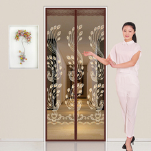 Magic Paste Mosquito Curtain Magnetic Screen Door Household Summer Screen Screen Net Self-adhesive Type Self-assembly and Disassembly