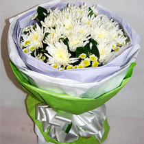 Beijing flower Courier Jinan Flowers mourn with flowers fountain flower mourning flowers tribute to mourn white chrysanthemum