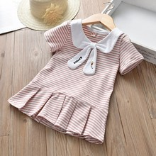 College Style Girls Spring Dresses, Children's Group Westernization, Summer and Pleat Children's Tidal Summer with Korean Style