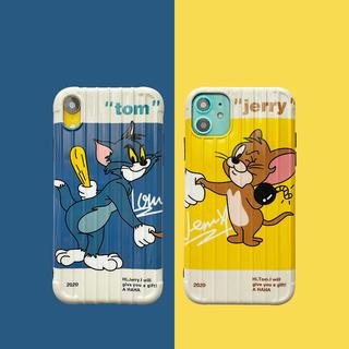 貓和老鼠情侶XR蘋果11手機殼iPhoneX軟殼xsmax創意8plus硅膠7P全包6s個性保護套iPhone11pro max防摔男女新款