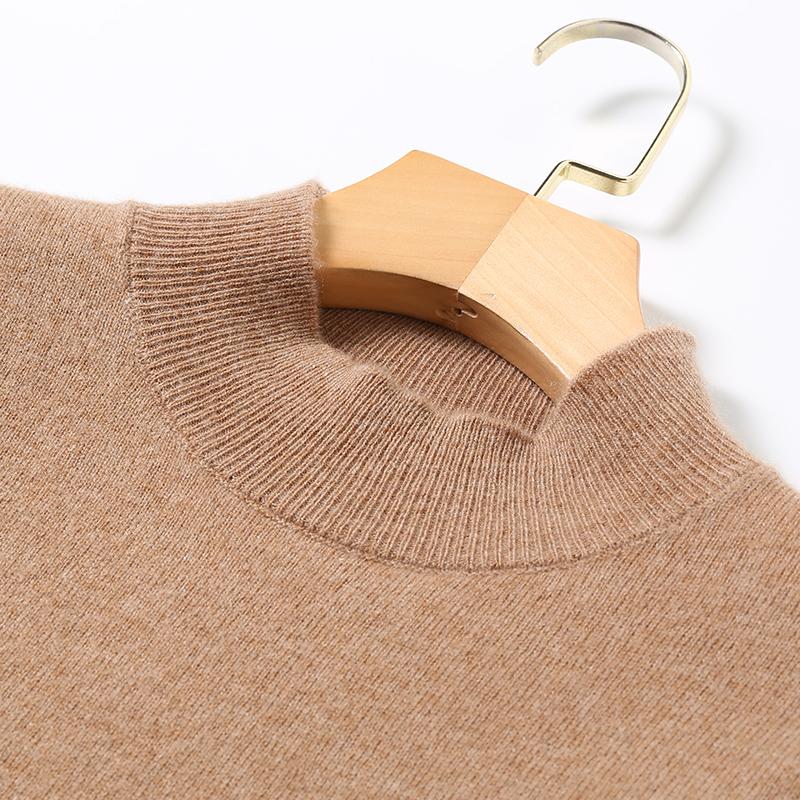 秋冬新款半高领毛衣女显瘦百搭内搭气质长袖针织打底衫