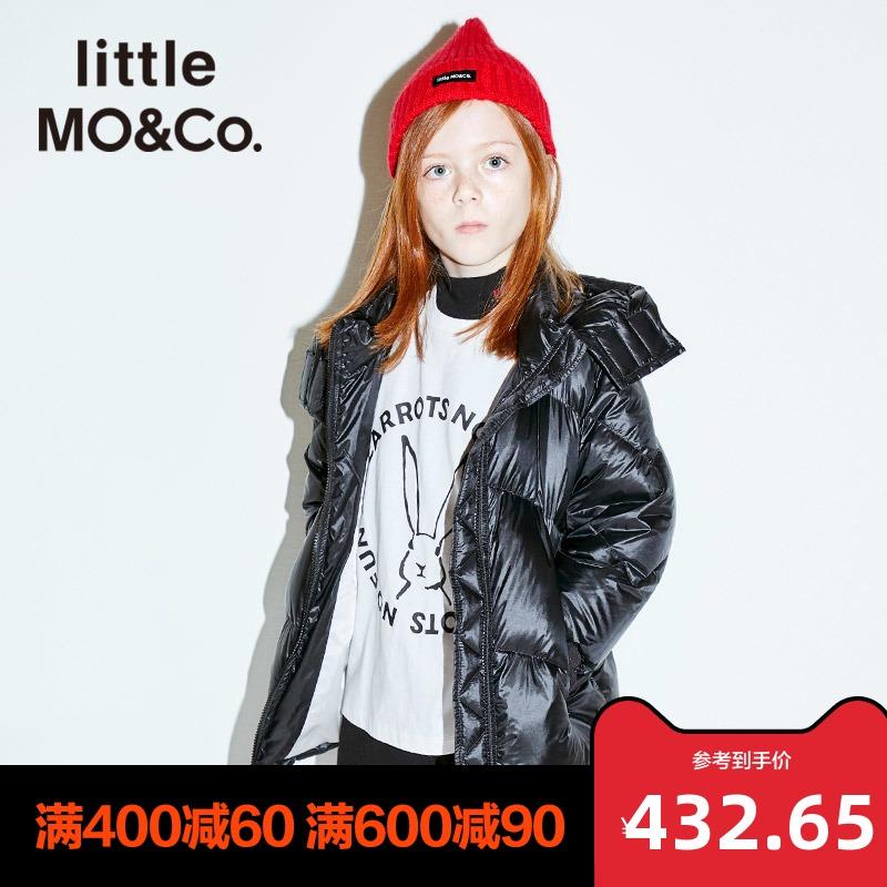 littlemoco童装女童外套男童加厚外套白鸭绒春装儿童羽绒服中长款