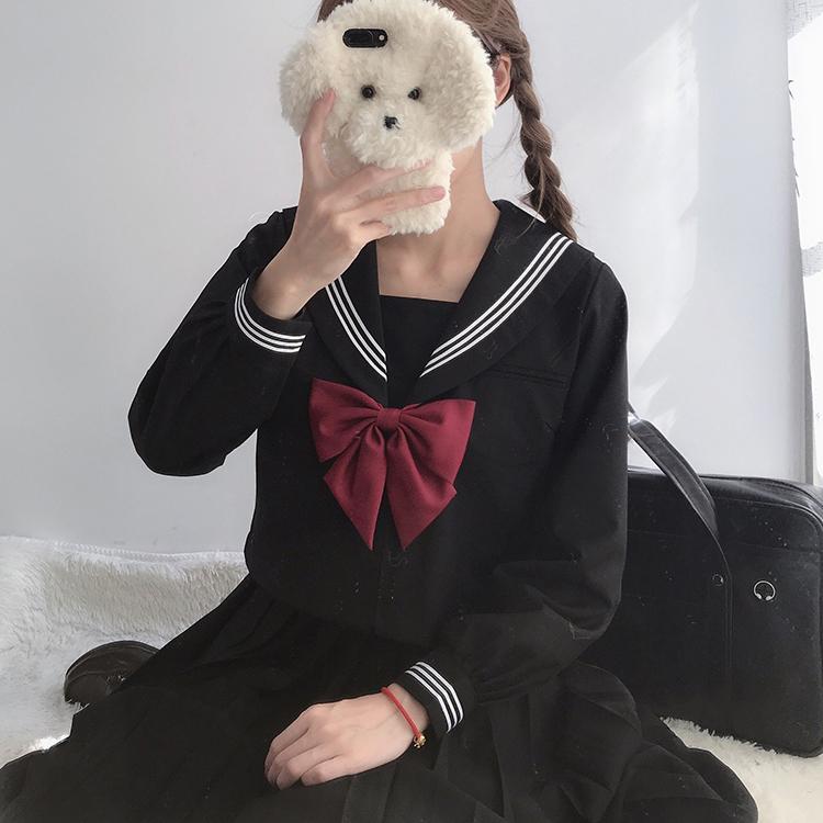 jk制服裙正版基础款大码胖mm套装学院风不良长裙水手服正统制服女