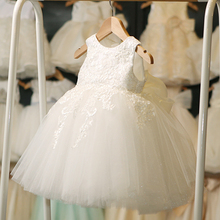 Princess Skirt Girl Pengpeng Wedding Dress Summer Flower Girl Flower Girl Piano Dress Compere Evening Dress White
