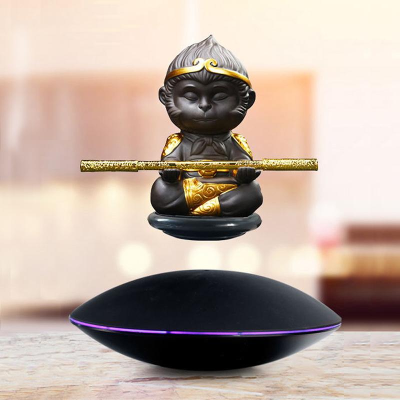 磁懸浮擺件孫悟空玩具手辦自轉展示臺磁懸浮鋼鐵俠地球儀開業禮品