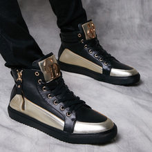 Autumn new fund to help high sneakers men's shoes, leisure shoes increased within the han edition tide street English short boots gz men's shoes