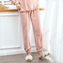 Fairy super-thick warm pants, outerwear suit, leisure trousers, warm pants, heavy foot-binding home and residence matching