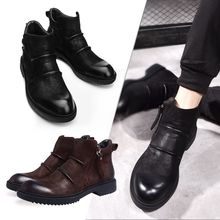 True leather boots Chelsea men's leisure boots in autumn and winter