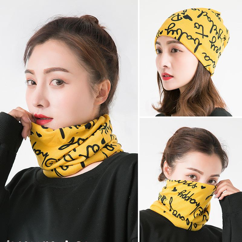 围脖女士脖颈套春秋薄款百搭护颈椎脖套秋冬季保暖面罩头巾小围巾