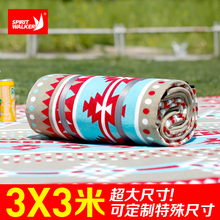 Extended tent moistureproof picnic mattress outdoor camping ground mattress 3X3m widening and thickening machine washable