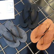 MATXSO·MAX summer couple flip flops men's fashion Europe and the United States men and women clip drag slippers flat beach shoes