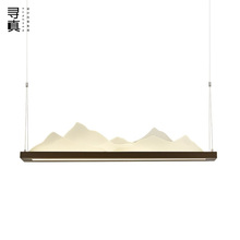 New Chinese Style Mountain Chanyi Rectangular Tieyi Chandelier Model Room, Studio, Restaurant, Teahouse, Residence Project Customized Lamp