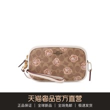 COACH/COACH Brown Flower Patterns LOGO Women's Bag Handbag Single Shoulder Bag