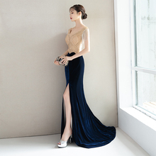 Dress Skirt New Long, Simple, Grand Banquet Temperament Evening Dresses Noble and Famous Party Dresses