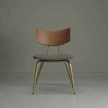SPHERE series dining chairs and leisure chairs made of old solid wood furniture with original metal legs and walnut color in northern Europe