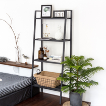 IKEA racks landing multi-storey Nordic storage rack iron bedroom bookshelf home space-saving kitchen shelf