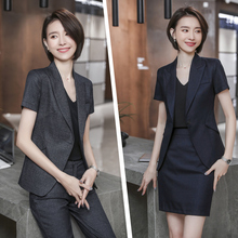 Small suit jacket women's 2019 new Korean fashion thin professional suit women's summer work suit suit formal dress