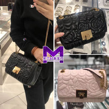 Miki ninght MK lady bag genuine lambskin chain Baoshan Camellia small fragrance flower single shoulder diagonal bag