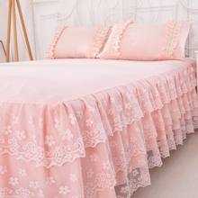 Korean Princess Bedspread Bedspread Skirt Single Lace Lace Bedspread Cover 1.8x2.0x2.2m Bedspread Cover in Summer