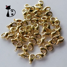 Copper base 10mm lobster button DIY bracelet necklace accessories hand jewelry necklace buckle hairpin hair accessories