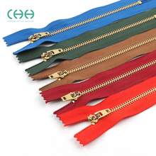 Copper Closed-tail Zipper Dress Short Sports Jeans Flap Wallet Zipper Accessories 13CM15CM