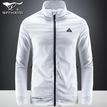 Seven Wolf Sunscreen Clothes Men Summer Ultra-thin Jacket Men's Sportswear Skin Clothing Outdoor Windshield Fishing Clothing