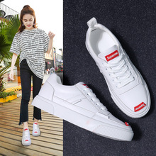 Small White Shoes Female Genuine Leather 2019 Spring New Korean Former Dormitory Leisure Nurse Shoes McKun Flat sole Single Shoe Female