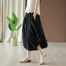 Flax casual pants with small ears