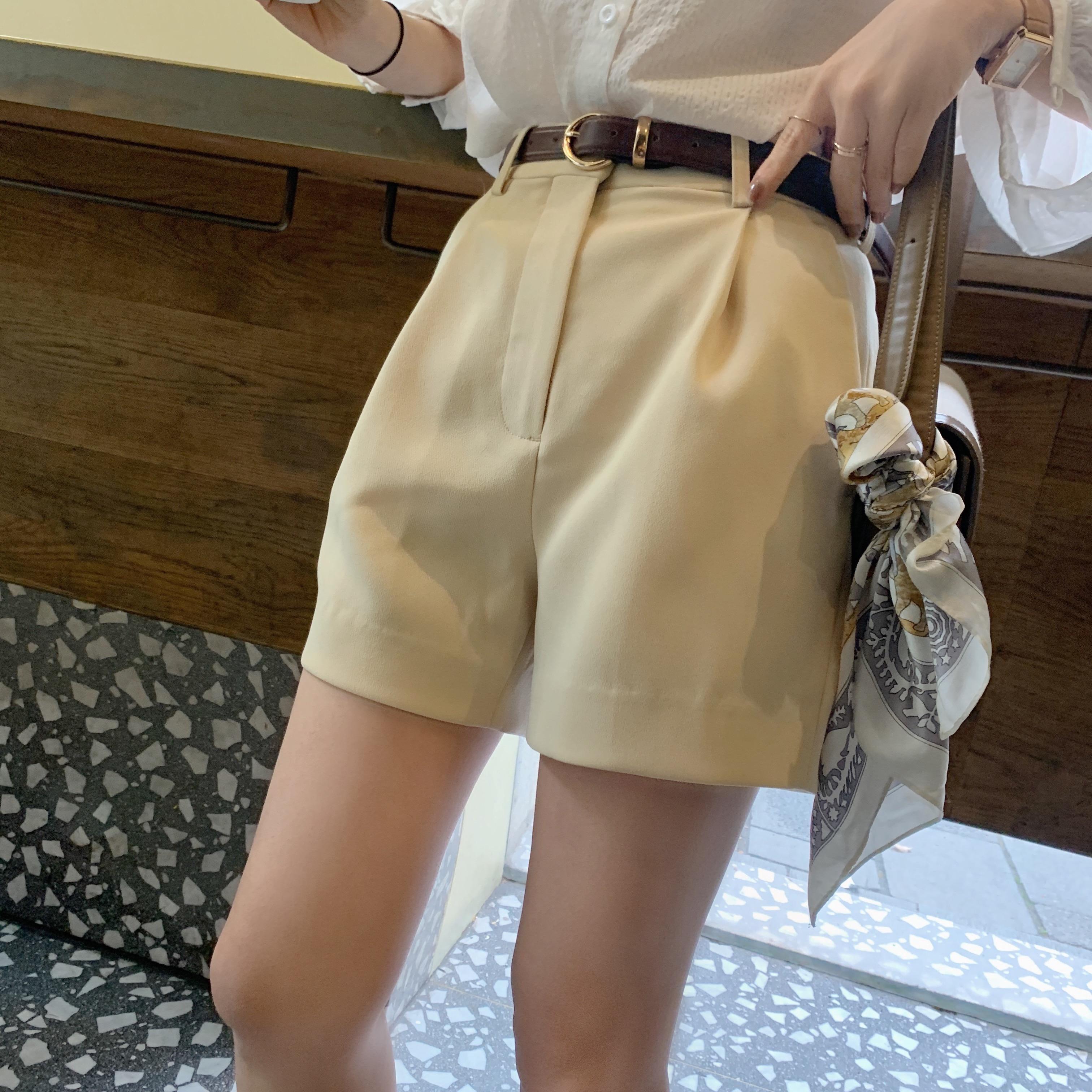 南瓜谷 长腿神器~西装短裤女夏季宽松高腰2020年新款休闲显瘦K582