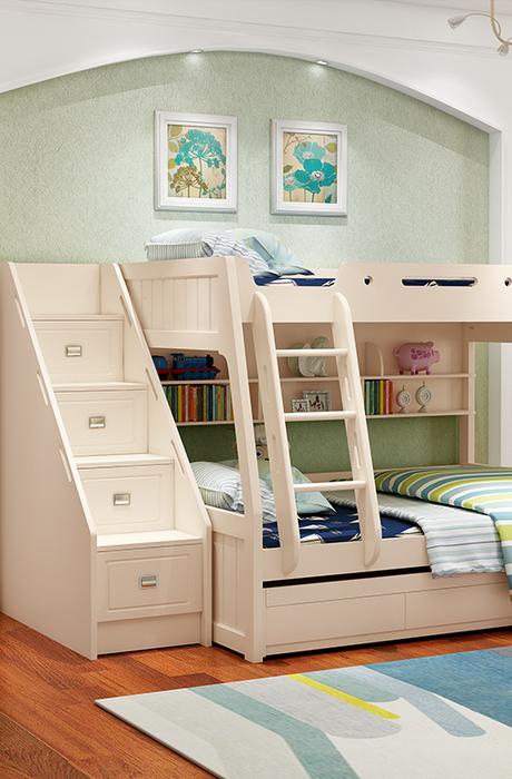 #兒童房多功能書桌衣櫃組合#好清新的兒童房設計,房间再小也不...