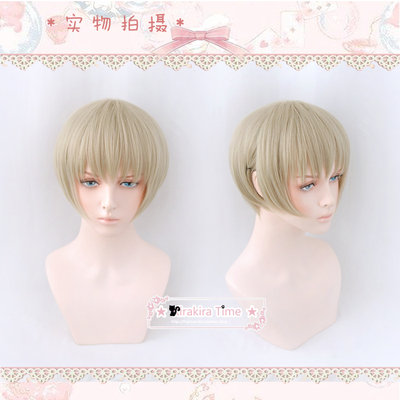 taobao agent 【kiratime】Cosplay wig, curse back to war, dog curl spines, flax gold juvenile model