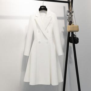 妃子 赫本风气质风衣女中长款2020春季新款排扣设计款外套1868B