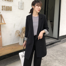 Suit jacket, women's spring and autumn dress, leisure medium-long jacket, Baitie net red, 2019 new loose Korean suit