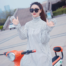 Electric Motorcycle Sunscreen Clothes Women Summer Full-length Pure Cotton Anti-ultraviolet Windshield Cycling Electric Vehicle Battery Car