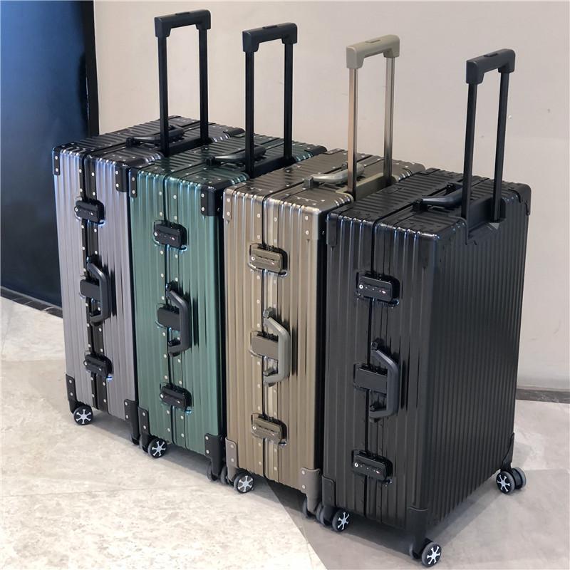 全鋁鎂合金拉桿箱萬向輪鋁框旅行箱男小箱子網紅行李箱金屬密碼箱