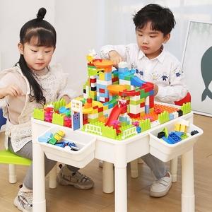 多功能積木桌子男孩子2-5-6女孩周歲兒童益智拼插積木拼裝玩具桌