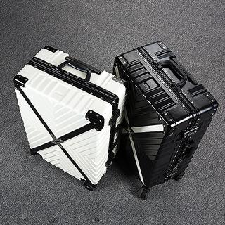 行李箱万向轮商务拉杆箱网红防刮旅行箱男24寸学生登机箱女密码箱