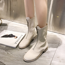 Flat-bottomed Shoes Female Spring and Autumn 2018 New Martin Boots