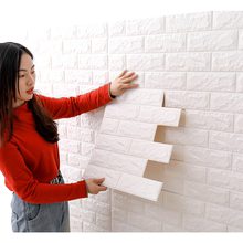 Wallpaper self adhesive bedroom warm decoration 3D solid wall sticker background wallpaper foam brick waterproof and moisture proof sticker