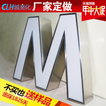 Stainless Steel acrylic luminescent character mini led advertising plaque outdoor resin word door head sign custom-made