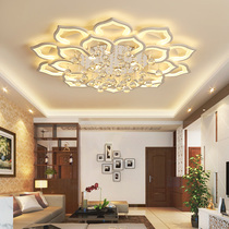 Living room lamp simple modern petal crystal lamp living room bedroom study lamp home atmosphere LED Nordic ceiling lamp