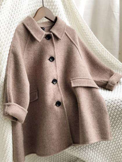 Children's Double-sided Cashmere Coat New Girls' Double-sided Tweed Coat A-line Coat In Autumn And Winter Of 2019