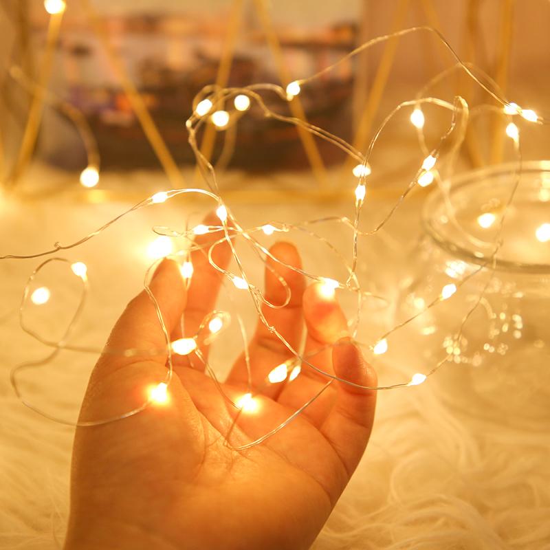led铜线灯小彩灯闪灯串灯满天星布置礼物盒装饰萤火虫迷你星星灯