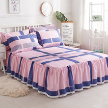 Bedspread bed skirt pure cotton anti-skid lace customized single 1.5m/2.0m bed protective sheath bed skirt single% 100
