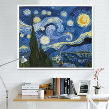 World Famous Painting Cross Embroidery Van Gogh Star Oil Painting Diamond Painting Cross Embroidery 2019 New Line Embroidered Small Bedroom