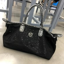 Hong Kong Tide Travel Bag Girl Star Travel Fashion Personality Handbag Mama's Large Capacity Sequin Fitness Bag